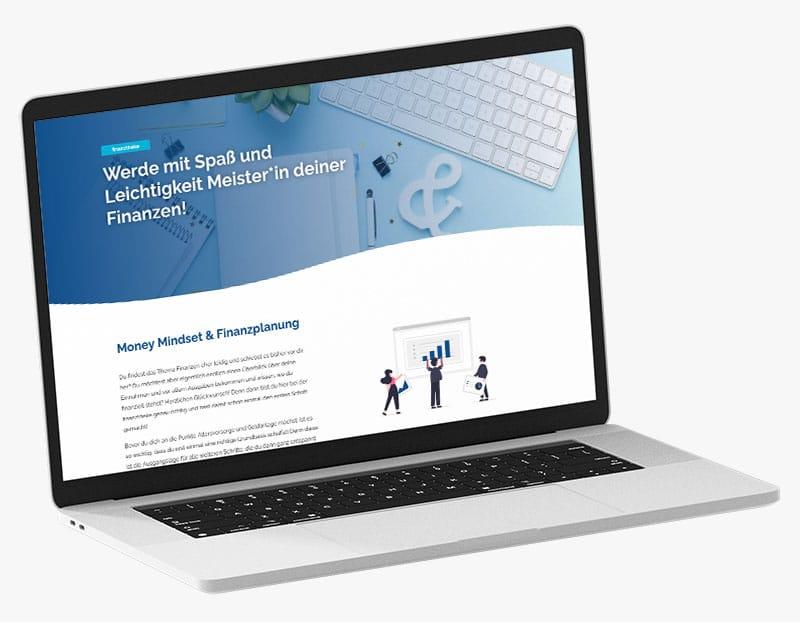 Webdesign Portfolio von 717media: finanztheke