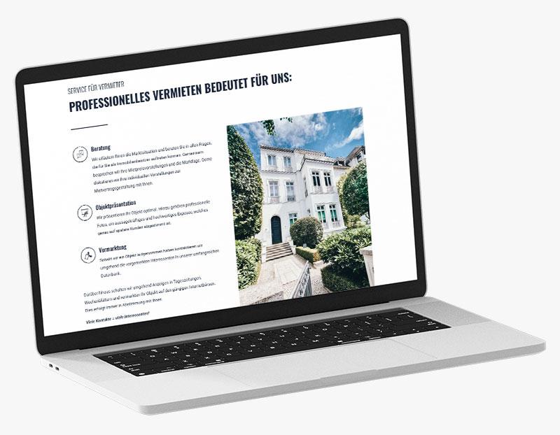 Webdesign Portfolio von 717media: Tretow Immobilien