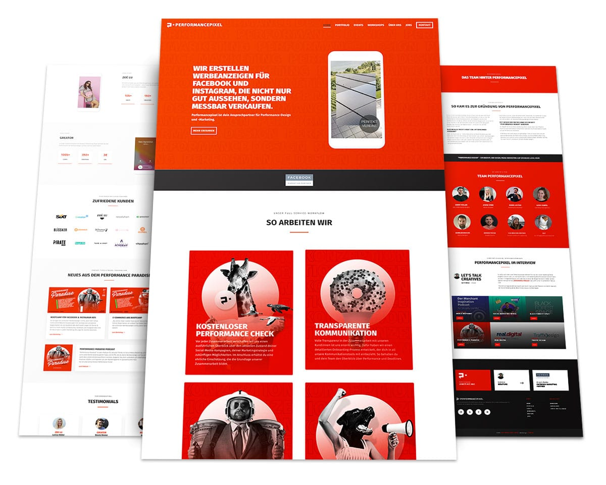Webdesign Portfolio von 717media: Performancepixel