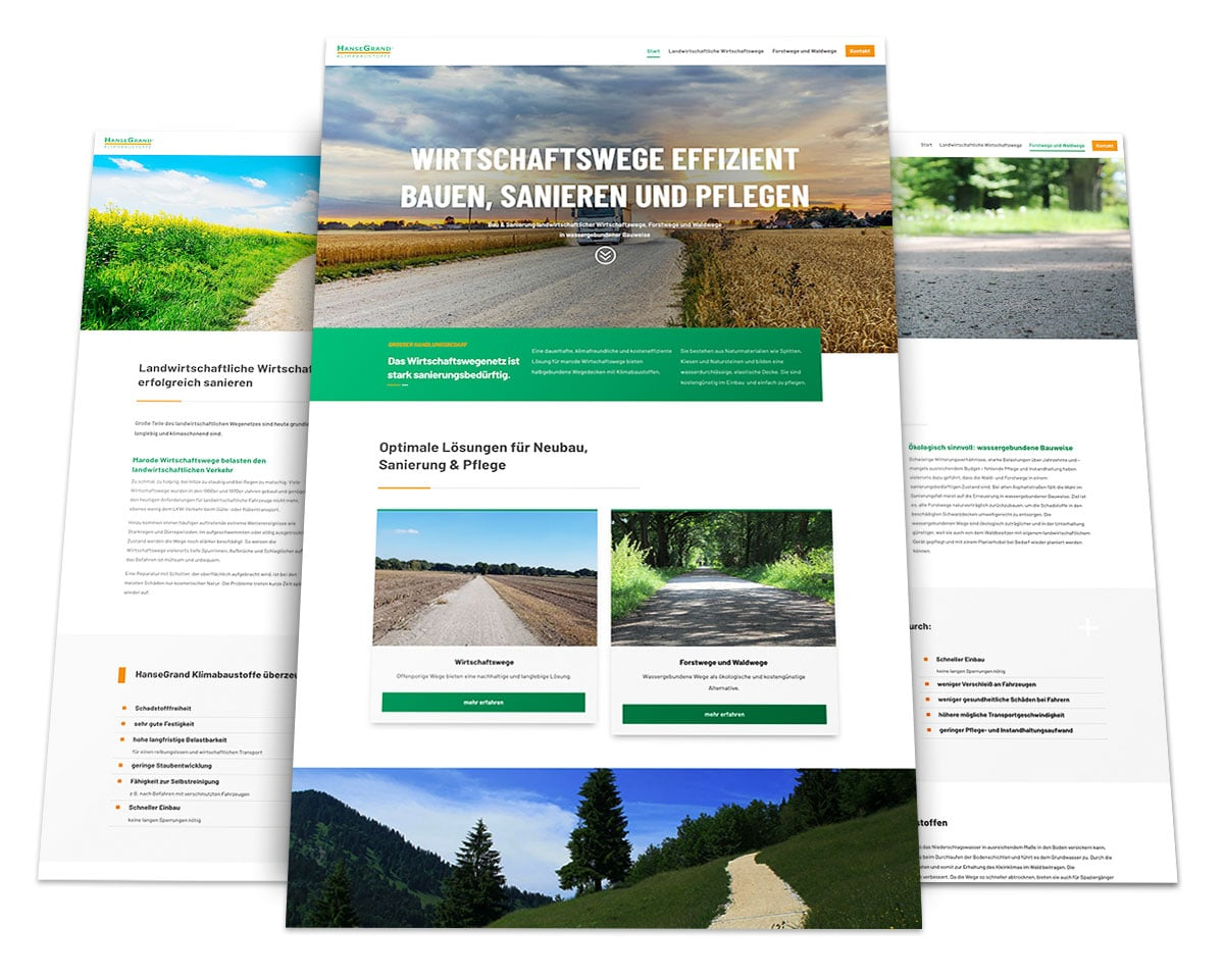 Webdesign Portfolio von 717media: HanseGrand