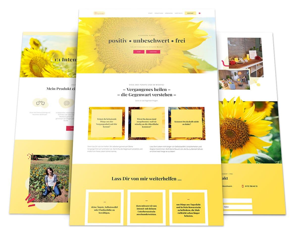 Webdesign Portfolio von 717media: positiv unbeschwert frei