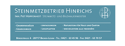 717media Kundenportfolio: Steinmetzbetrieb Hinrichs