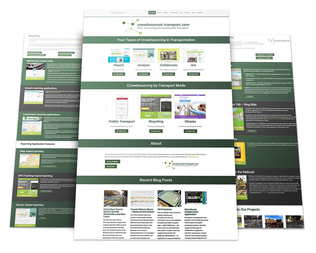 Webdesign Portfolio von 717media: Crowdsourced Transport