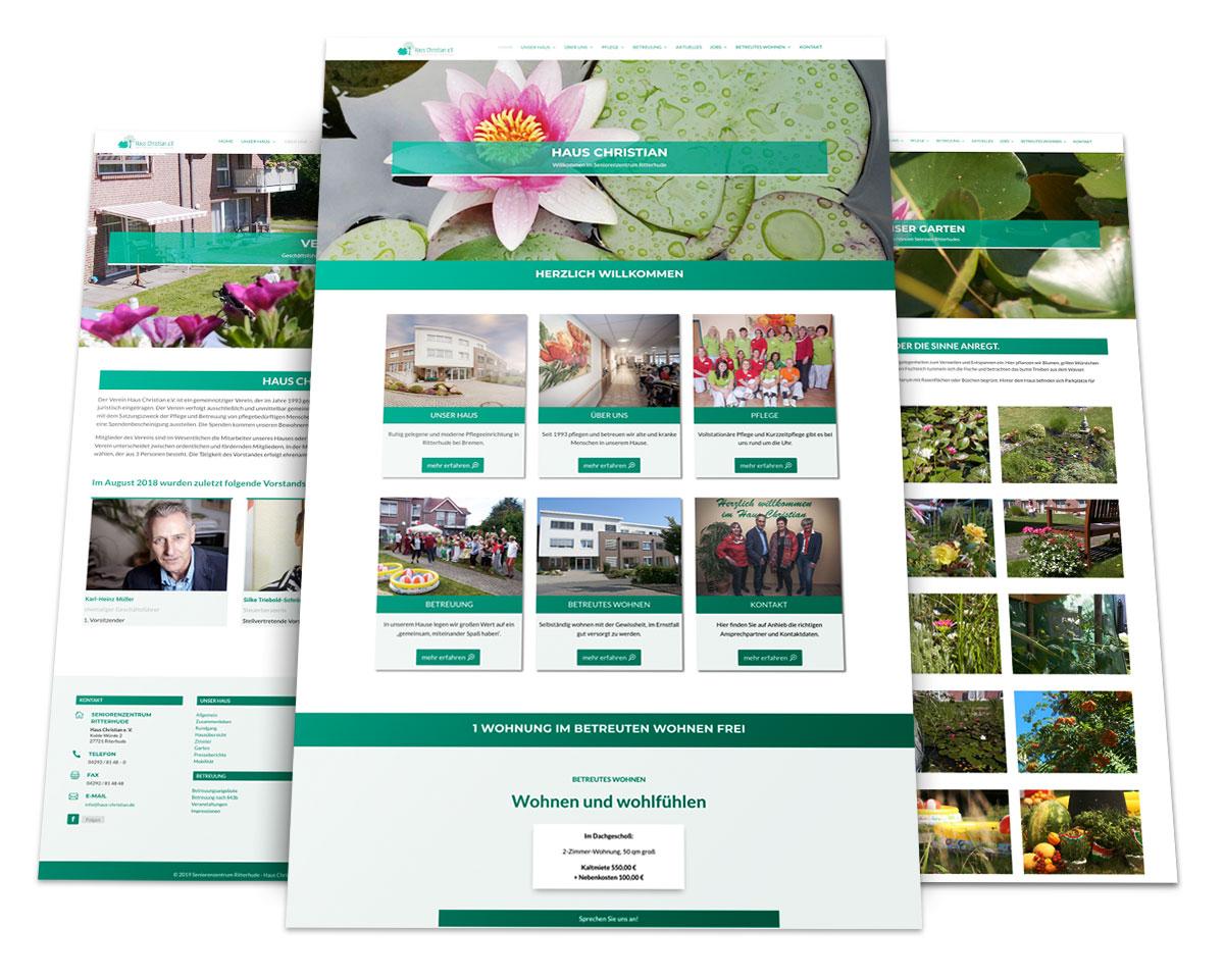 Eine Webseite von 717media
