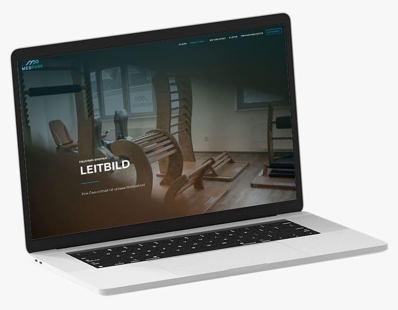 Webdesign Portfolio von 717media: MEDPARK Bremen