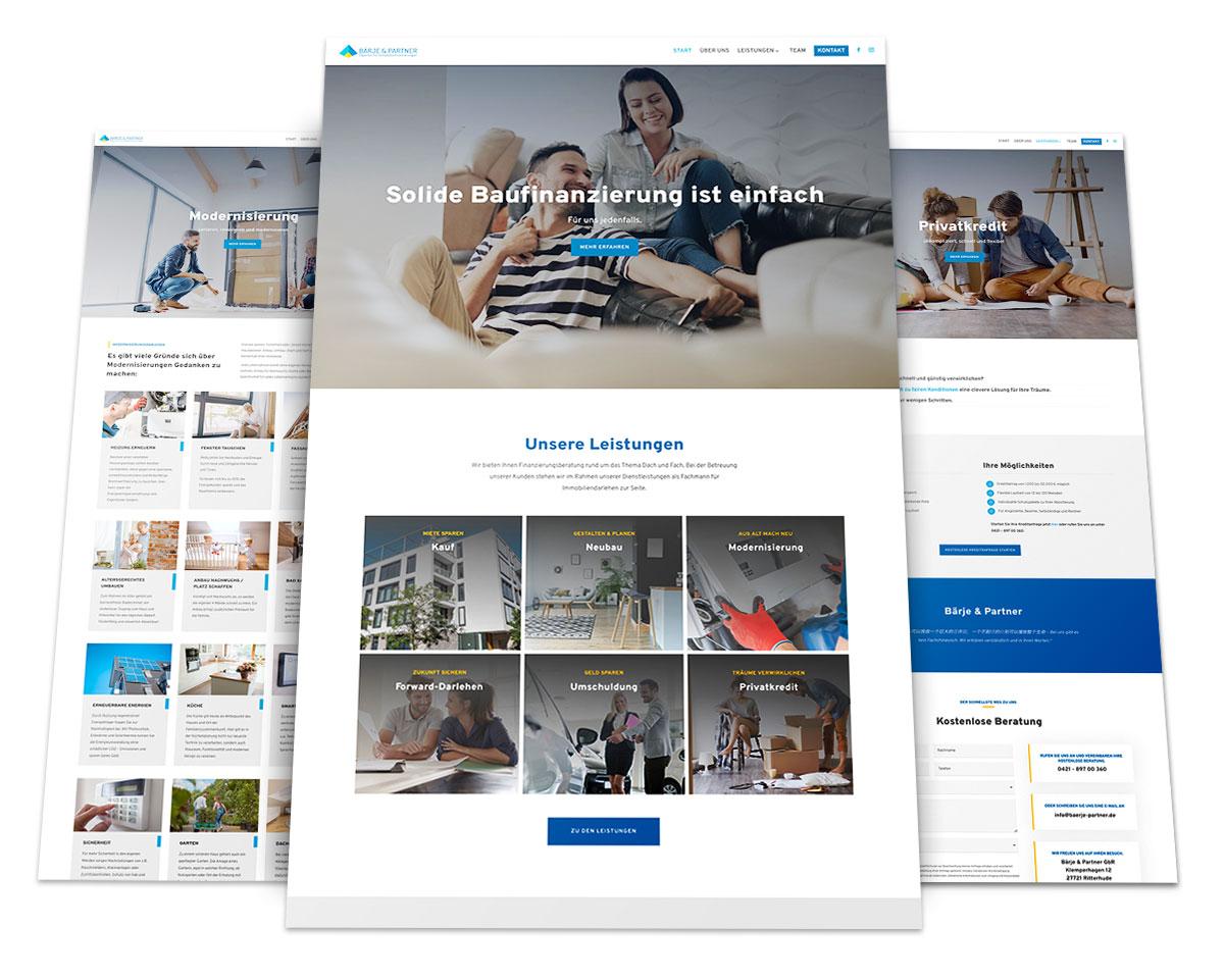 Webdesign Portfolio von 717media: Bärje & Partner