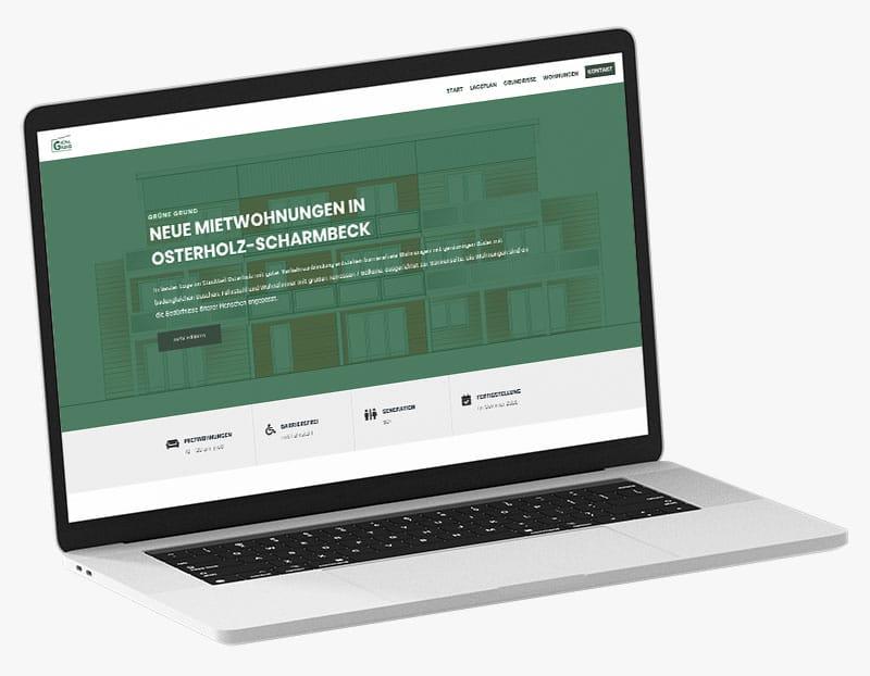 Webdesign Portfolio von 717media: Grüne Grund
