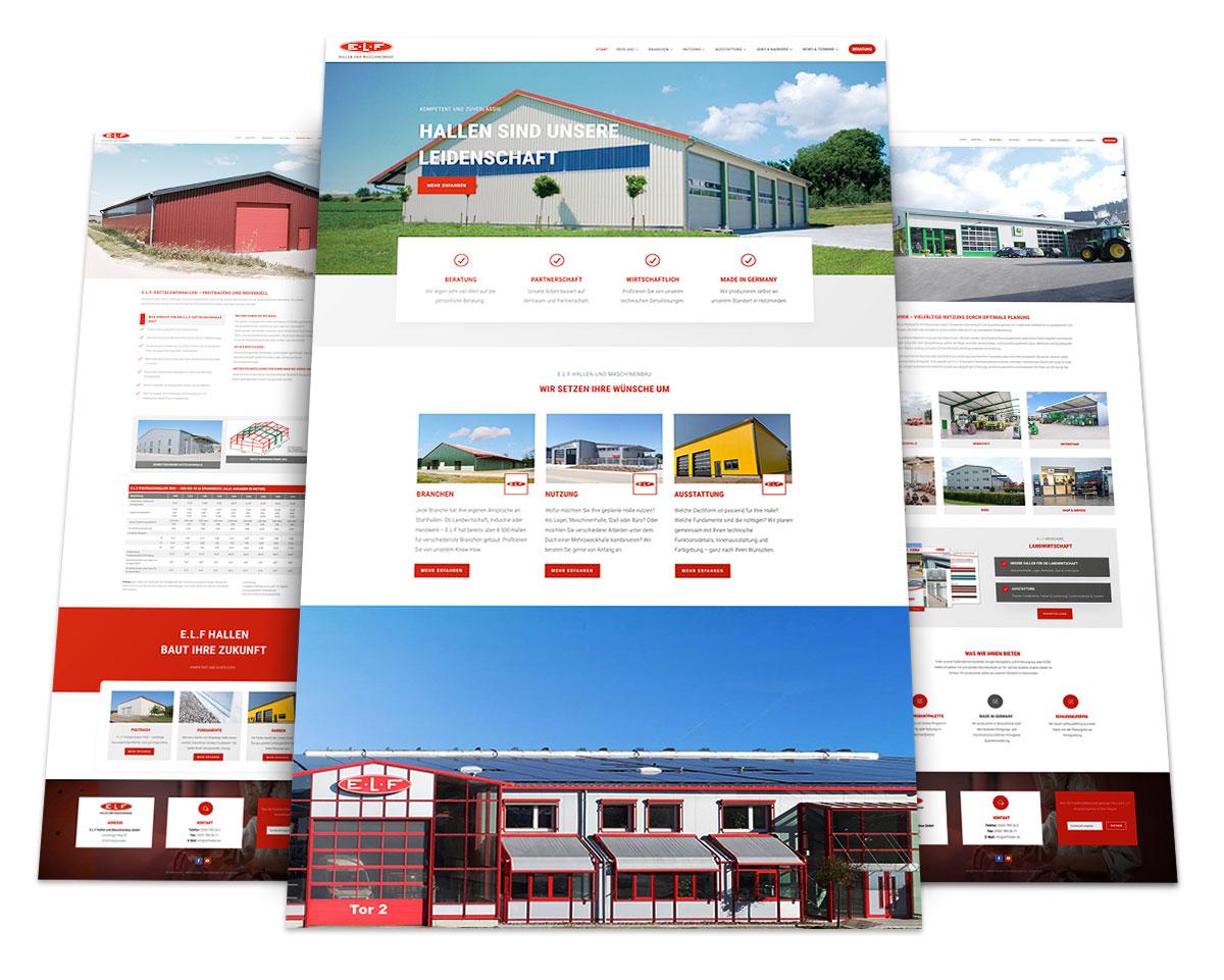 Webdesign Portfolio von 717media: E.L.F Hallen und Maschinenbau