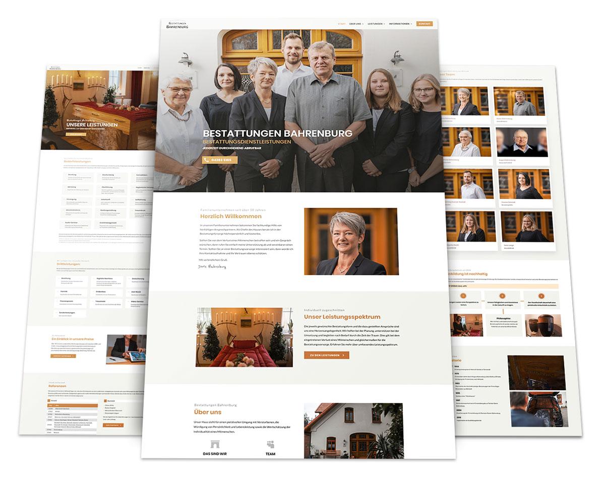 Webdesign Portfolio von 717media: Bestattungen Bahrenburg