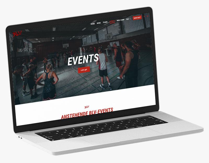 Webdesign Portfolio von 717media: Basketball Lesum Vegesack