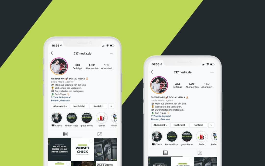 Das optimale Instagram Profil