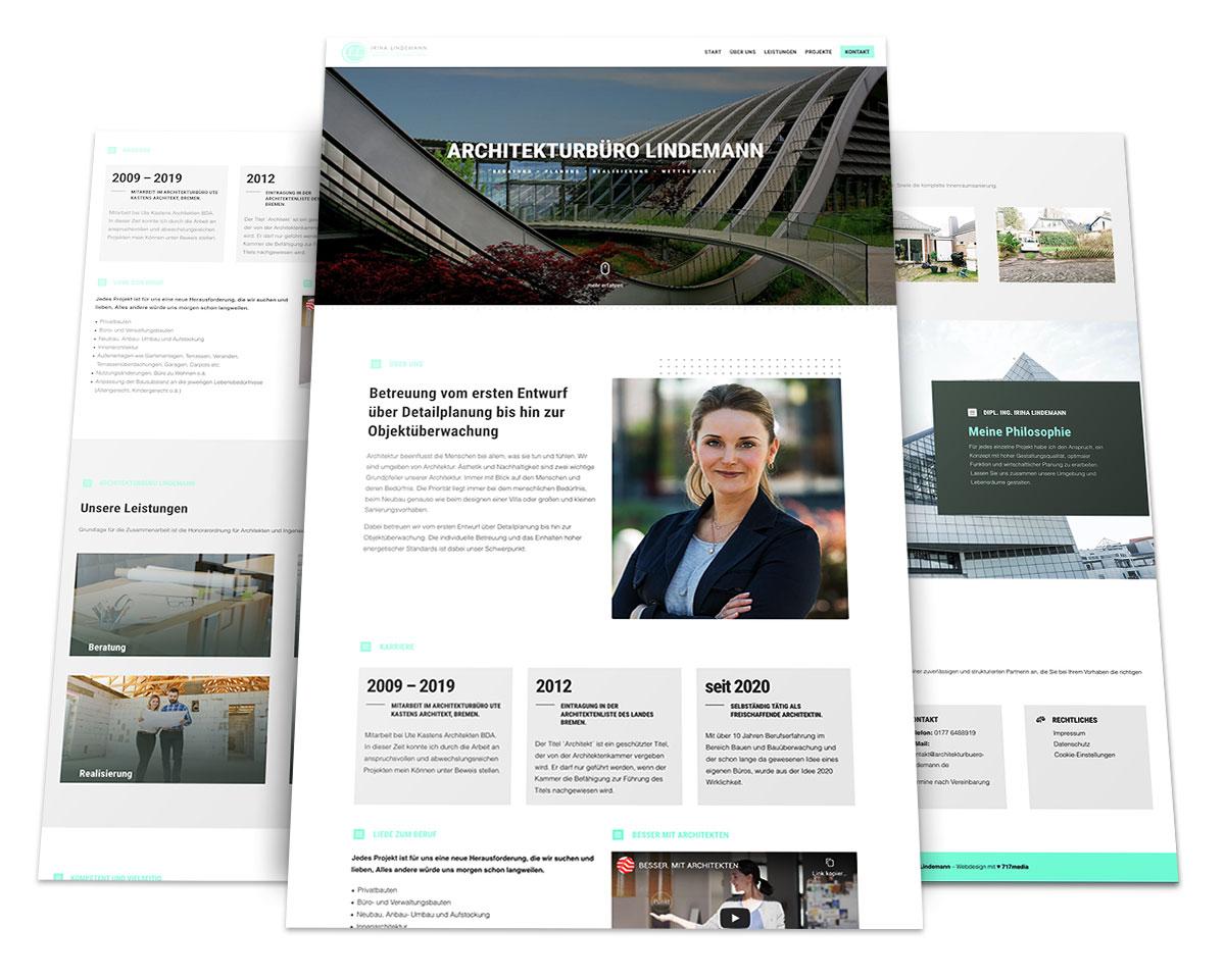 Webdesign Portfolio von 717media: Architekturbüro Lindemann
