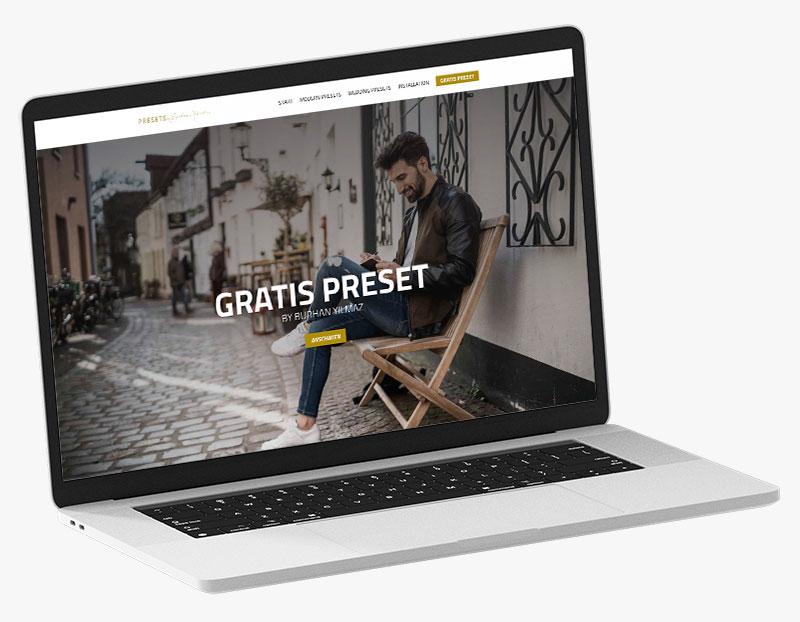 Webdesign Portfolio von 717media: Presets by Burhan Yilmaz