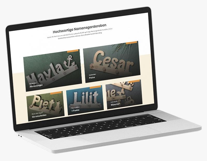 Webdesign Portfolio von 717media: Der Name