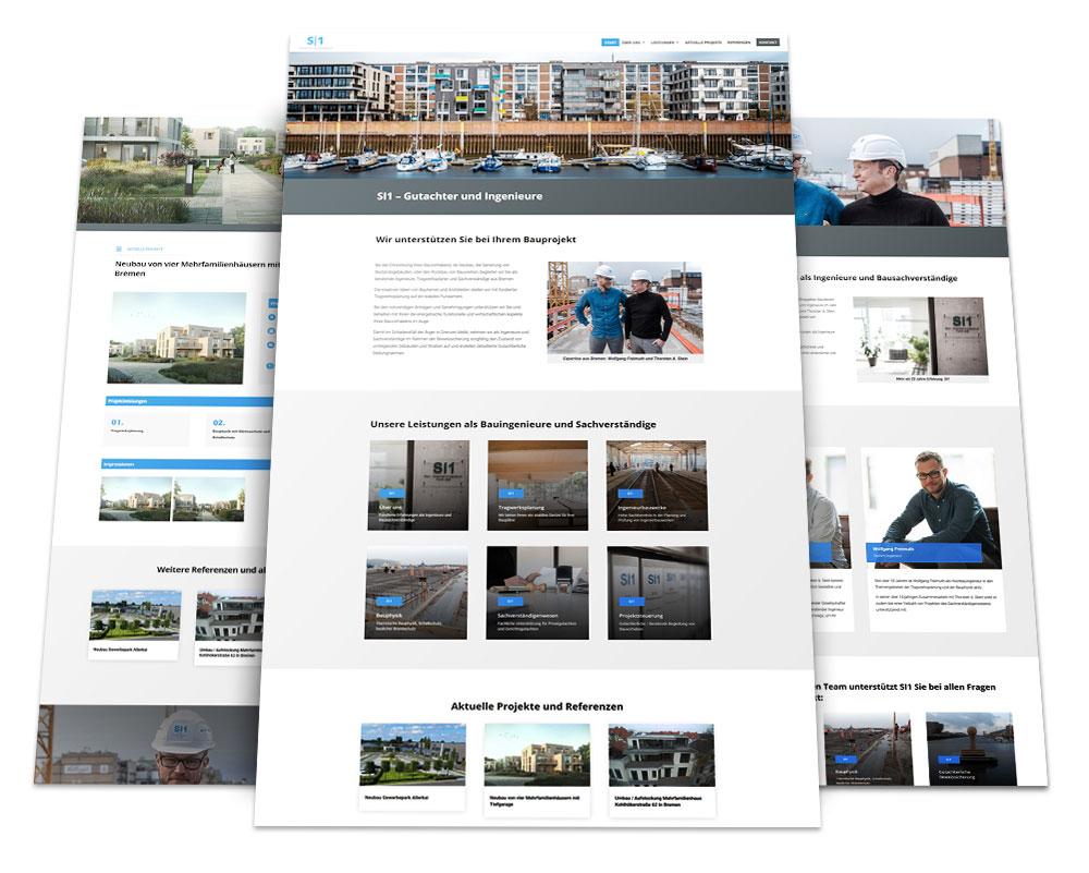 Webdesign Portfolio von 717media: SI1 – Gutachter & Ingenieure