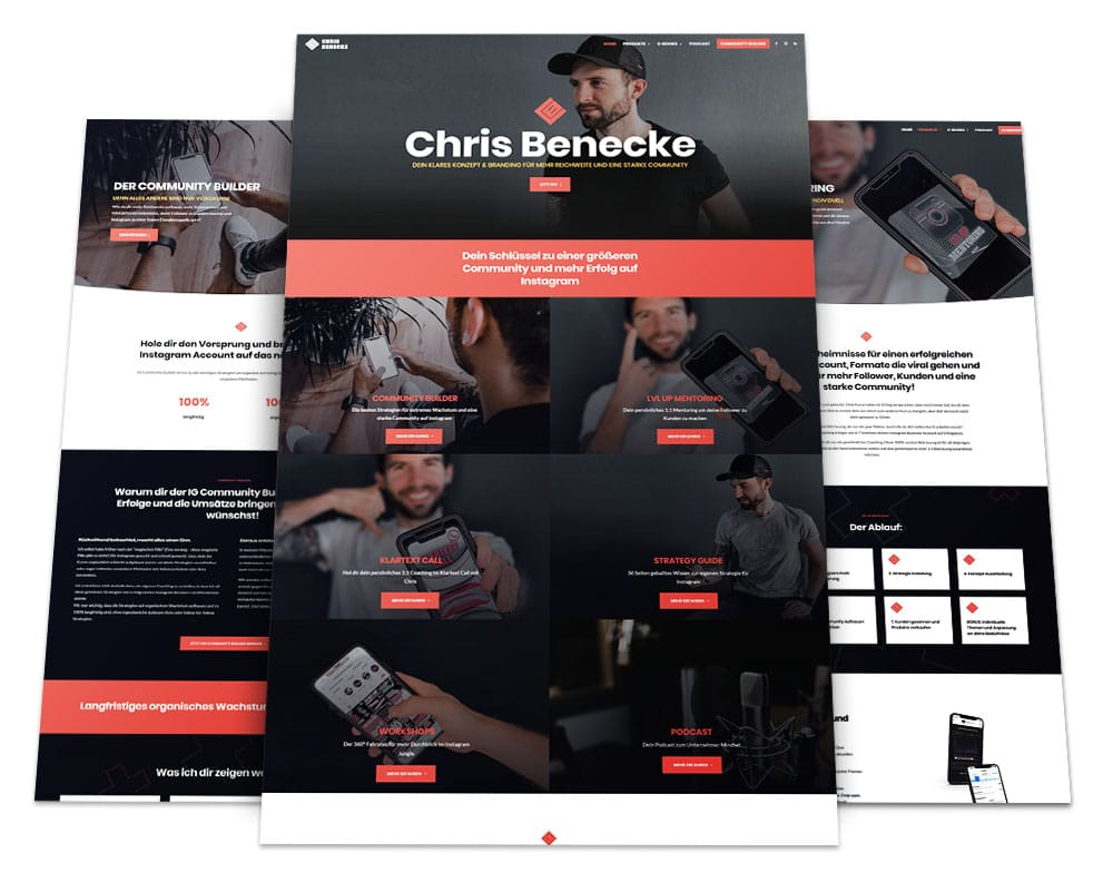 Webdesign Portfolio von 717media: Chris Benecke