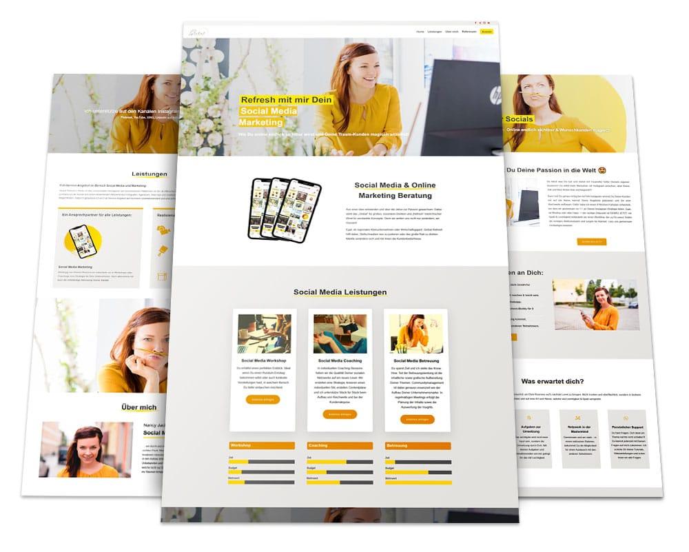 Webdesign Portfolio von 717media: Global Refresh