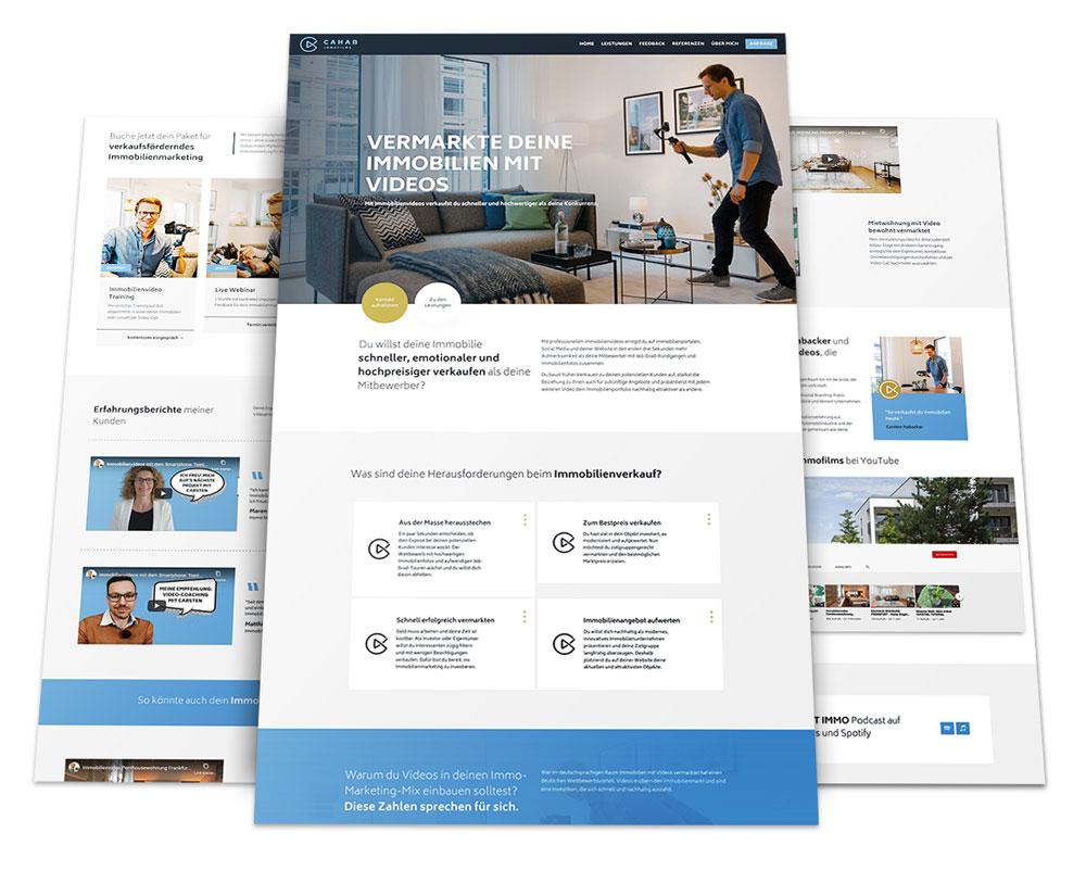 Website für Immobilienmakler, Arzt oder Physiotherapeut