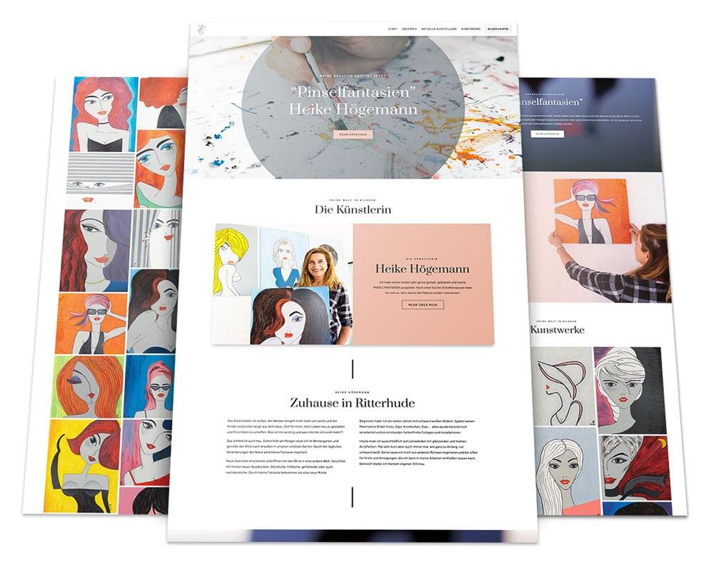 Webdesign Portfolio von 717media: Pinselfantasien