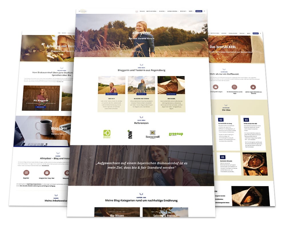 Webdesign Portfolio von 717media: Bio mit Verena