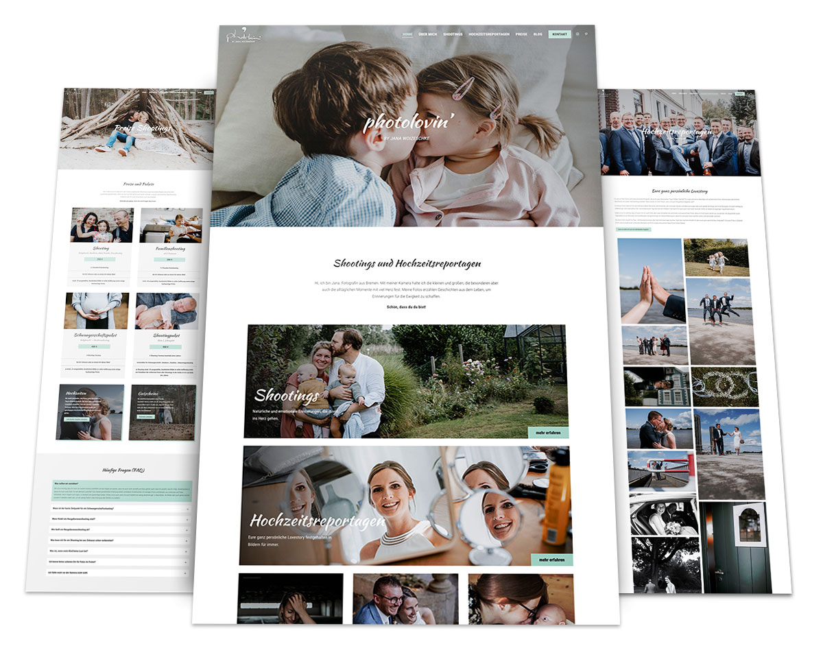Webdesign Portfolio von 717media: Photolovin