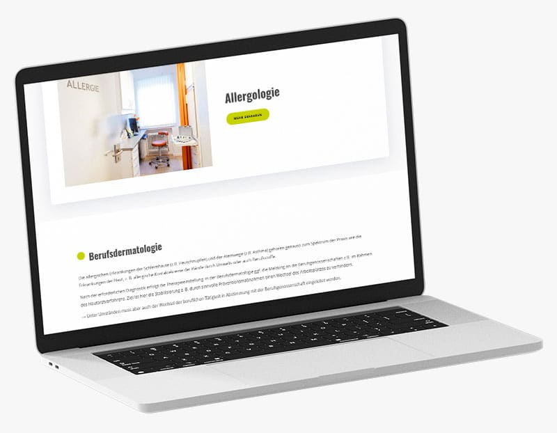 Webdesign Portfolio von 717media: Derma Knippel