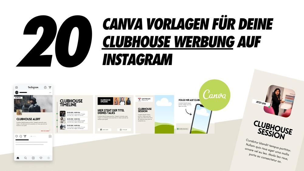 Instagram feat. Canva: 20 Canva-Vorlagen für Clubhouse