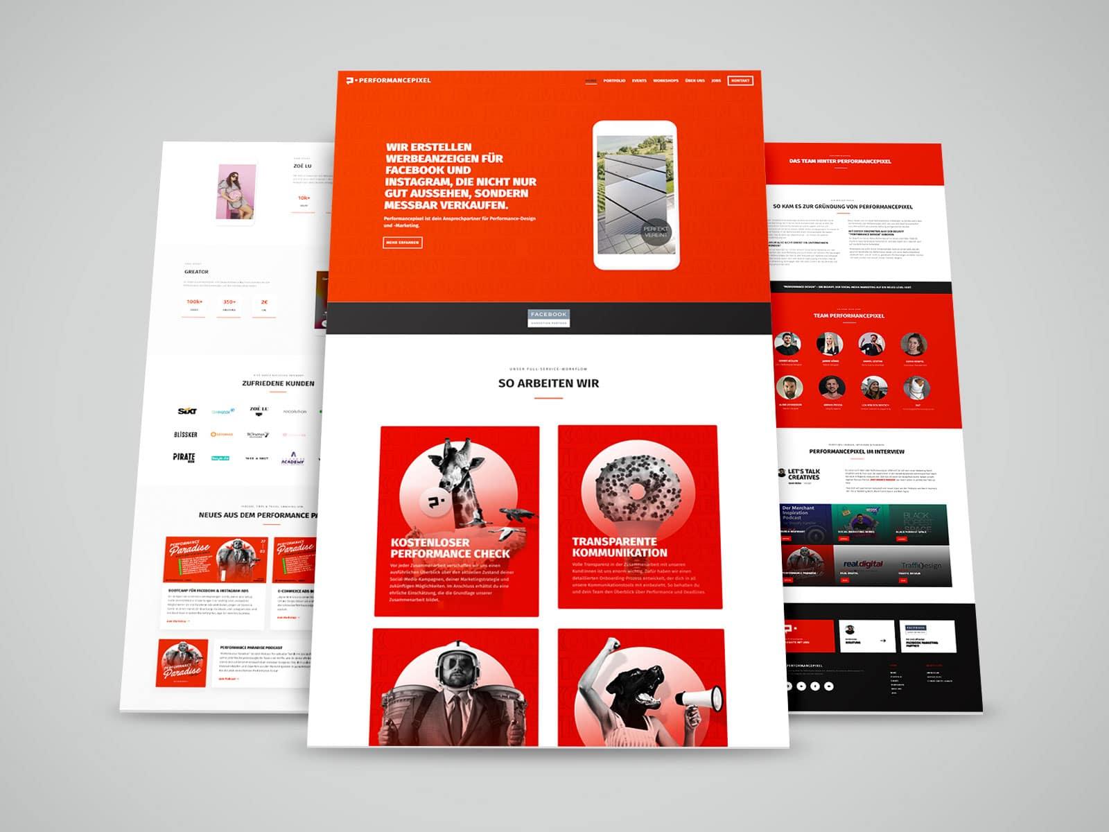 Website Referenz von 717media: Performancepixel