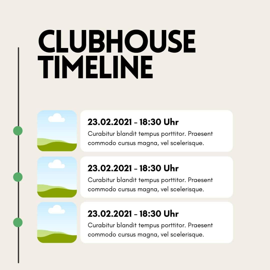 Canva Vorlagen für Clubhouse