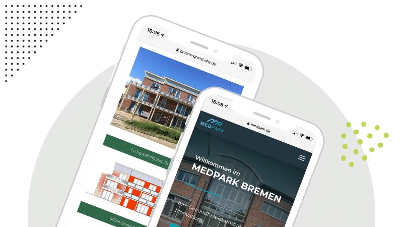 mobil optimierte Website (Responsive Design)