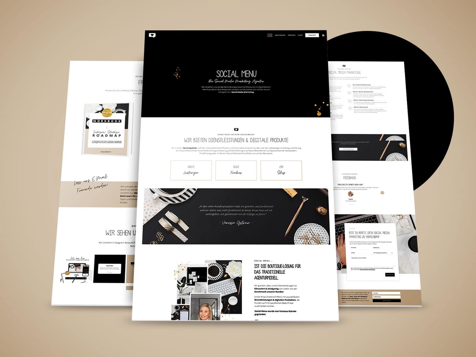 Website Referenz: Social Menu